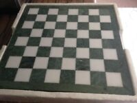SOLID MARBLE CHESS SET, 40 YEARS OLD