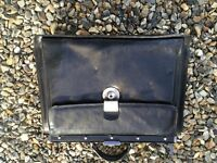 Black leather briefcase - excellent quality.