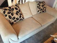 FREE 3 seater fabric sofa