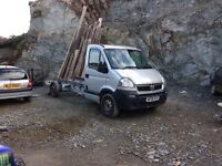 06 Vauxhall movano chassis cab lwb