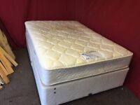 MYERS DOUBLE DIVAN BED WITH 4 DRAWS AND MATTRESS ,CAN DELIVER