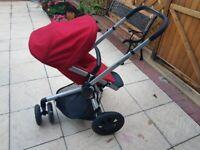 Quinny moodd red pram/pushchair
