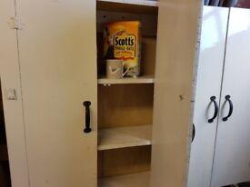 Large cupboard 1.4 mtr long x 1.2mtr high x 22 cm deep. Needs a new clat of paint