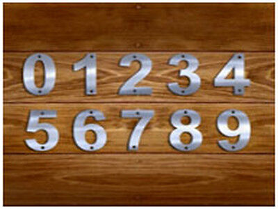 Stainless Steel House Address 0-9 Numbers, Different Sizes, Brand New