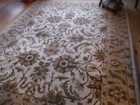 Hand tufed rug. Dark beige pattern. imported by costco. 8ft x10ft.