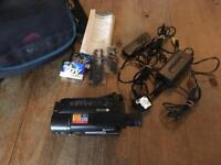 Sony Video Camera Handycam Vision with bag and accessories.