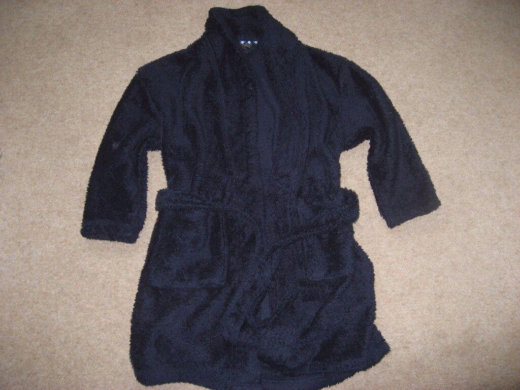 Next Boys Dark Navy Fleece Dressing Gown (Age 6)