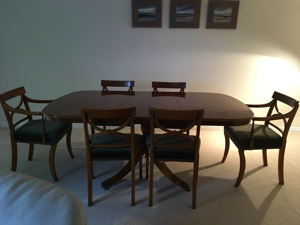 Dining table and 6 chairs. Bevan Funnel - Yew finish.   in ...