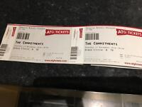 2 x Tickets for The Commitments - Theatre Royal Glasgow