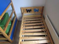 IKEA kids' bed. Good condition. From smoking free house. No mattress.