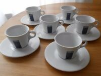 Lavazza coffee cups and saucers