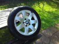 BMW E46 Wheel 3 Series Original BMW 16 inch Style 45. Tyre hard but needs replacing.