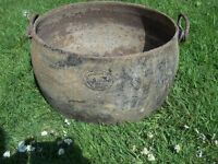 Large 5 Gallon Antique Cast Iron Cauldron
