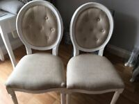 Pair of Shabby Chic French Style Chairs