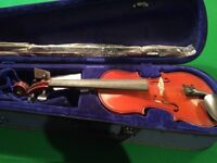 New violin one string missing, bargain