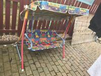 Children garden swing