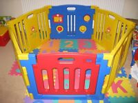 MCC Plastic Baby Playpen with Activity panel 6 Sides for sale