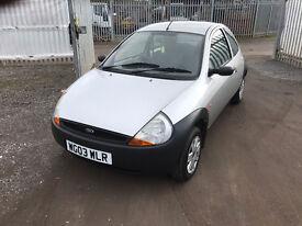 2003 FORD KA 12 MTHS MOT IDEAL FIRST CAR, CHEAP TO RUN PX WELCOME MIN £95 PAID