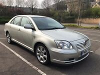RARE TOYOTA AVENSIS D4D T-SPIRIT- 130K - ELECTRIC BLACK LEATHERS -IMMACULATE POSS PX