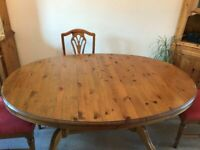Ducal oval Extending Dining Table and Four Chairs Side Board Dresser and Corner Unit