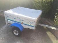 "Larger Trelgo tipping trailer + cover (4ftx3ft 6"")"
