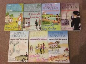 Sophie Kinsella book set of 6 writing as Madeleine Wickham