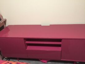 Ikea, Pink TV-Bank, Storage System, Media Unit, Tv- Stand