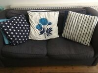 2 blue sofa beds. FREE need collected ASAP.