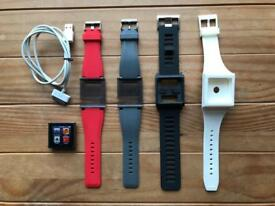 iPod Nano 6th Generation 8gb with 4 watch straps