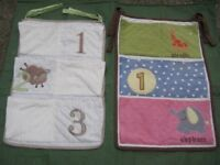 Three Hanging Storage Panels, Three Hanging Padded Panels and a Small Cushion - All for £10.00