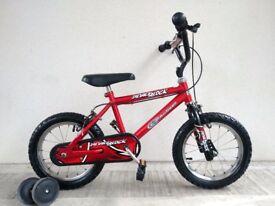 """(2838) 14"""" KID ACTIVE ROADBLOCK Boys Girls Kids Bike Bicycle + STABILISERS Age: 4-5, 98-112 cm"""