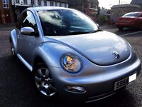 2004 VOLKSWAGEN BEETLE, 2.0 PETROL AUTO, ONLY 66000 MILES, EXCELLENT CONDITION,PARTEXCHANGE WELCOME
