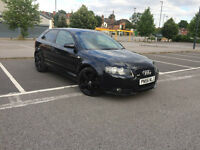 Black Audi A3 S Line 2.0 Tdi 170bhp Leather
