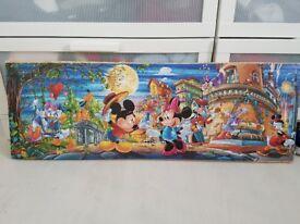 Disney picture jigsaw wall art on wood