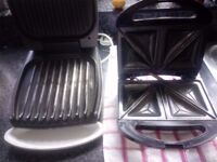 George Foreman grill and sandwich toaster