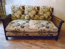 Lovely understated bergere chinoissiere sofa and chairs for sale, bargain.