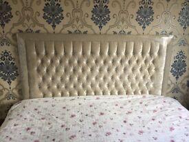 Super king crushed velvet bed