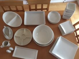 Dinner Service (Debenhams) with cookware and serving dishes