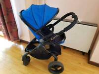 Icandy peach 3 cobalt blue pram/pushchair