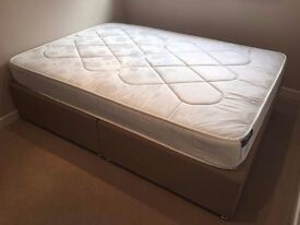 BRAND NEW DOUBLE DIVAN BED WITH MATRESS £245 ono.