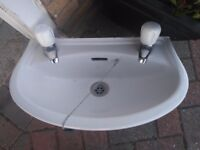 Cloakroom basin with taps 18 inch x 11 inch £20 any questions email me