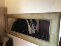 Large Leather Mirror for Sale
