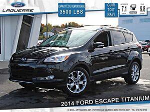 2014 Ford Escape **TITANIUM*AWD*CUIR*TOIT*NAVI*CAMERA*CRUISE*A/C