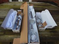 Nikles shower unit, shower, riser rail,control valve, hoses, all brackets, instructions. brand new