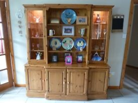 Dresser with Display Cabinet