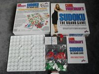 SUDOKU THE BOARD GAME WITH 100 UNIQUE NEW SUDOKU PUZZLES FOR 1 or 2 PLAYERS