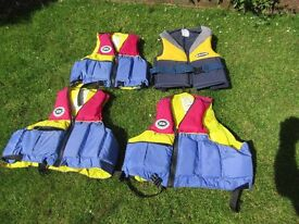 Buoyancy Aids for water sports or lesure on the water.