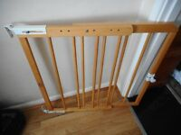 mothercare wooden extending stair gate