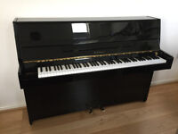 KAWAI CX-5 UPRIGHT ACOUSTIC PIANO IN POLISHED EBONY WITH ADJUSTABLE STOOL