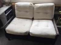 Ikea Lillberg 2 seater sofa / sofabed with wood frame and cushions good condition